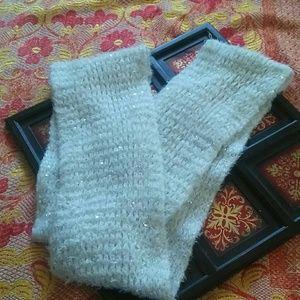 Betsey Johnson glittery faux mohair scarf